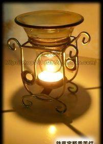 烛台香炉香薰灯送蜡烛精油 曲线玲珑