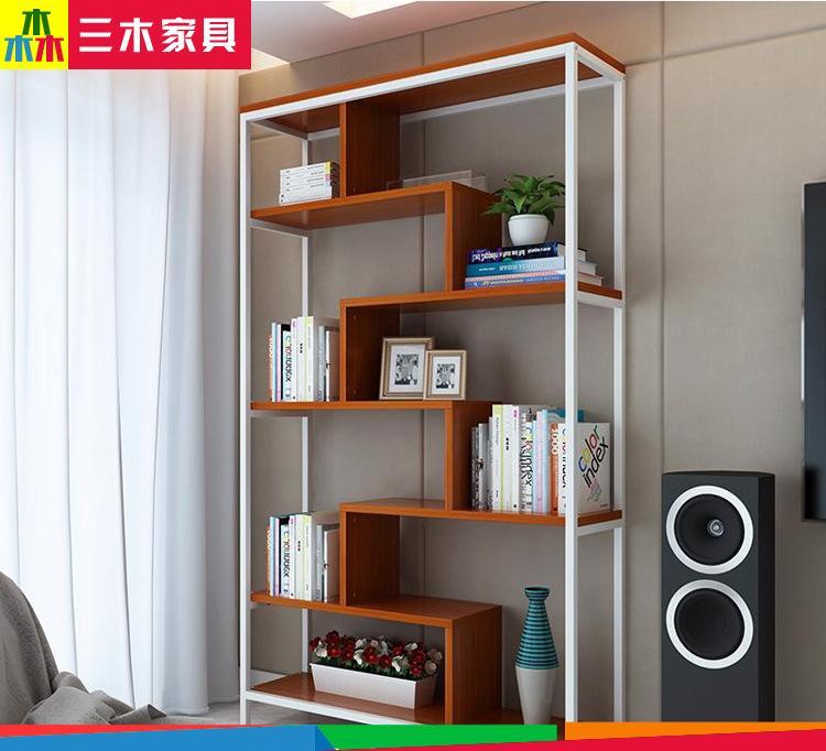 简易书架客厅书柜 置物隔断造型展示储物架 可定制