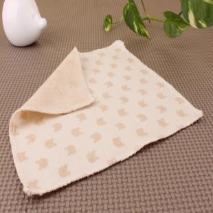 加工有机棉 彩棉 婴儿小手绢纯棉 小方巾全棉 口水巾小手帕无印