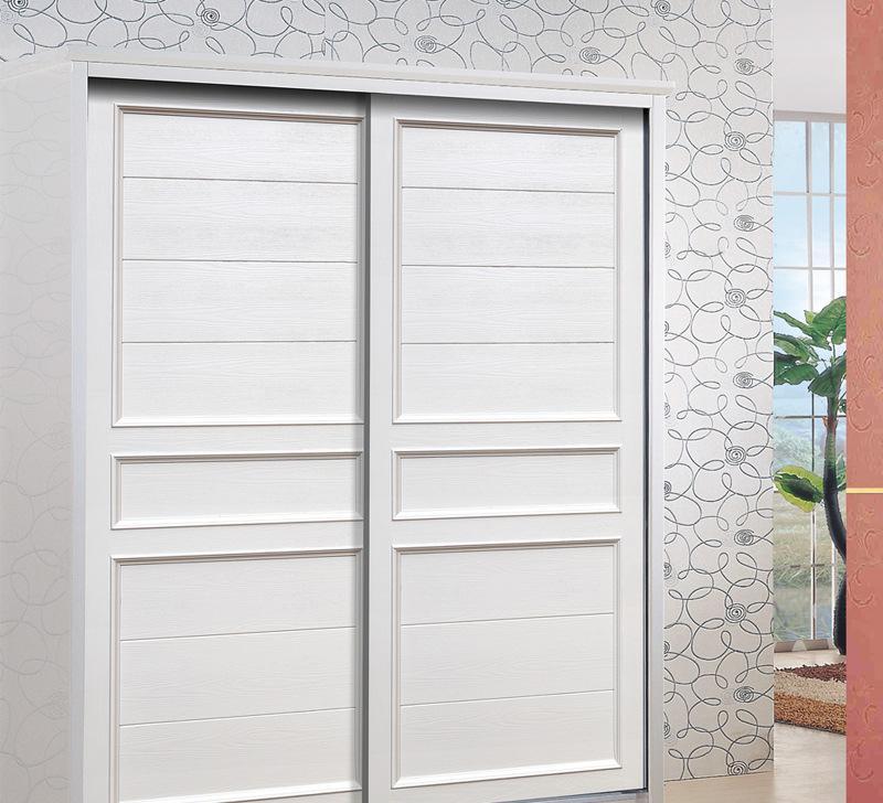 衣柜门定制 简约欧式吸塑移门 雕刻板推拉门fld-0248