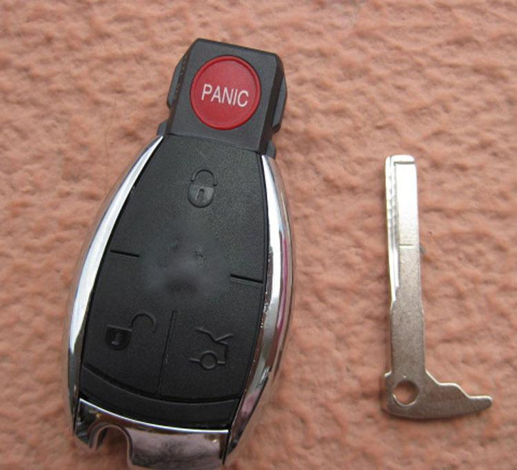 汽车钥匙奔驰配件s级3 1键遥控器外壳带电池座专用替换外壳 无标