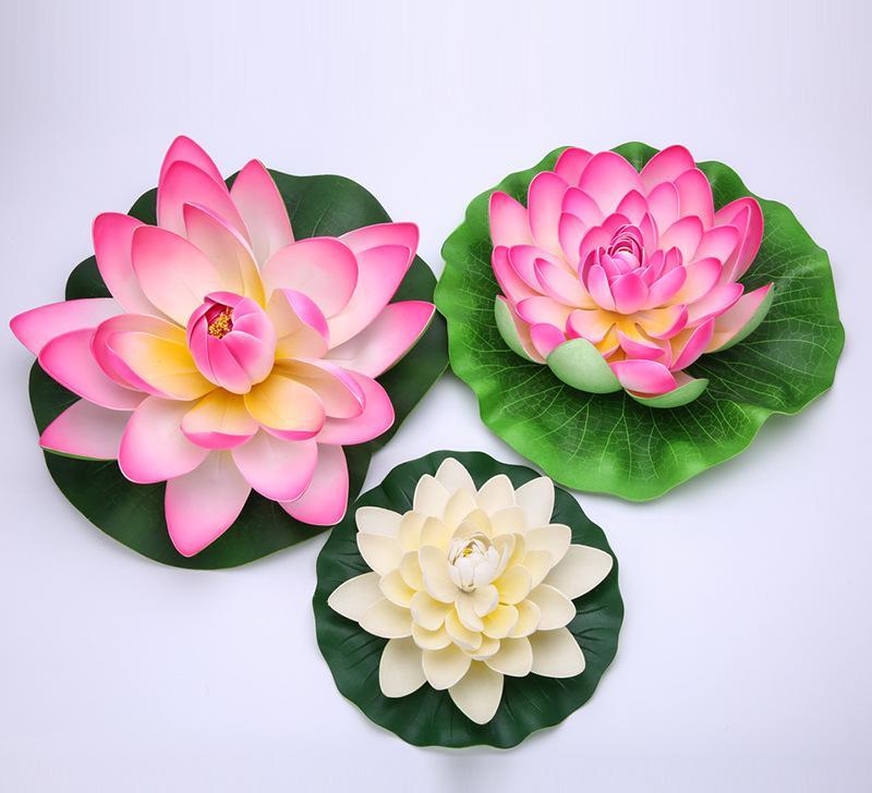 水池装饰仿真荷花 手工制作eva重瓣荷花 仿真植物永生花可定制