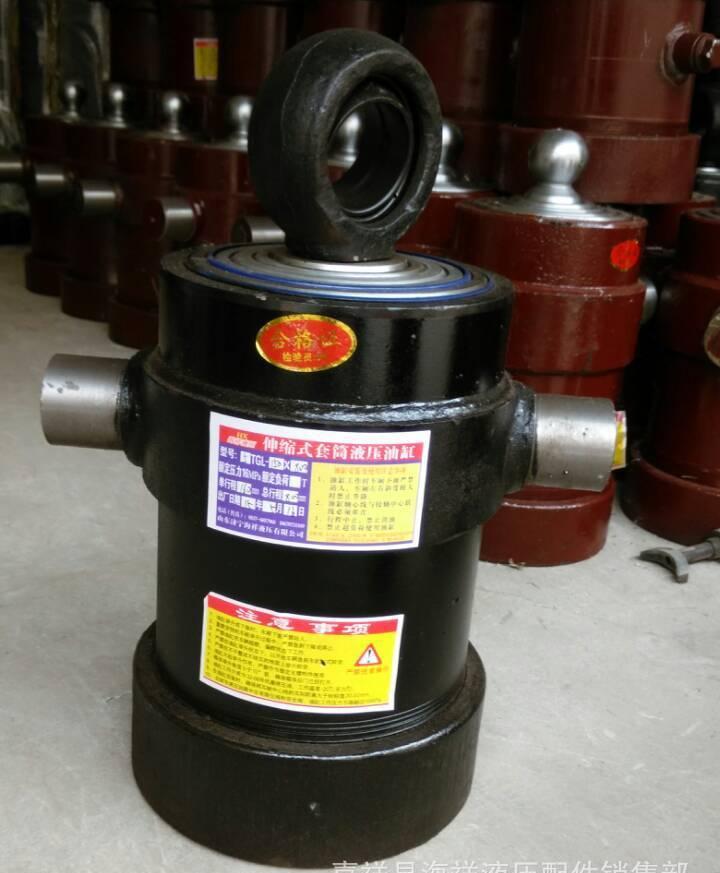 厂家供应液压油缸伸缩式液压油缸侧翻车液压油缸图片
