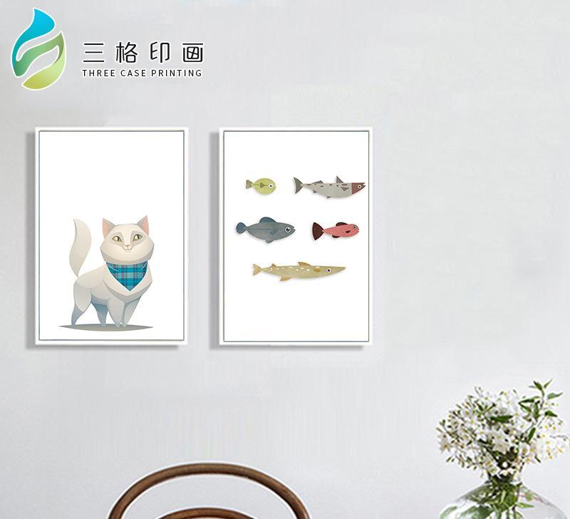 热销 中式古典动物图案静物装饰画 简约风 荷韵长方形喷绘装饰画