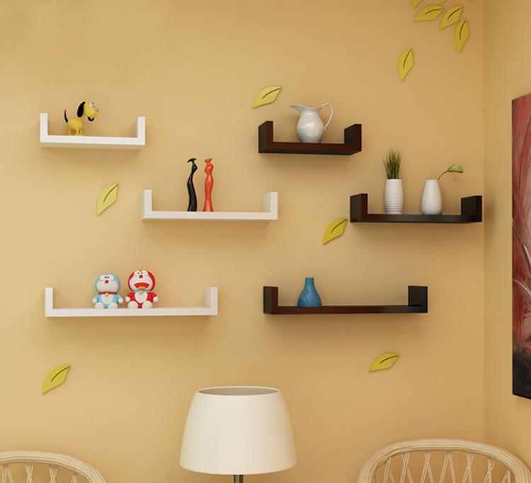 厂家批发创意u型隔板置物架客厅卧室电视背景墙装饰书架墙上壁挂