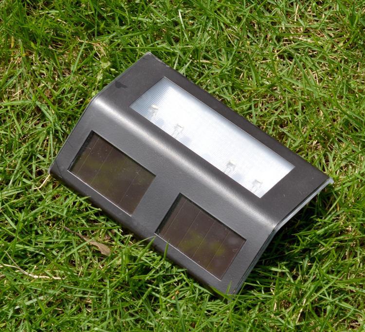 宁海厂家直销太阳能三角形不锈钢led家庭门牌指示灯楼梯灯图片
