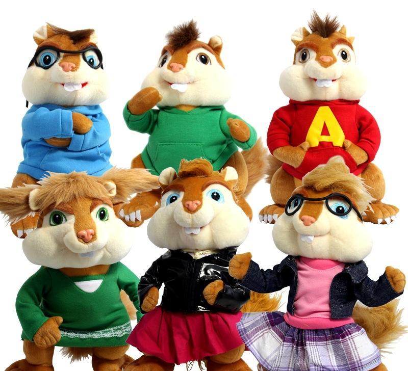 厂家直销鼠来宝情侣档花栗鼠松鼠西蒙喜多艾尔公仔毛绒玩具批发