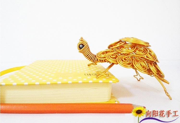 乌龟铝线工艺品小动物动物蛇凤凰螳螂龙玫瑰花材料包