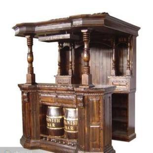 门厅家具 其他门厅家具 > 供应酒吧台 酒吧收银台 碳化木欧式酒吧台