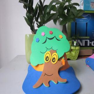 新款eva大树头饰eva立体帽子 卡通头饰动物面具头饰