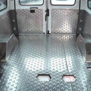 江铃经典全顺专用脚垫改装配件不锈钢地板汽车内饰板面包车改装件