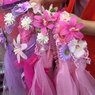 厂家直销 儿童头纱花环饰品 可爱小公主精美韩版儿童头饰批发