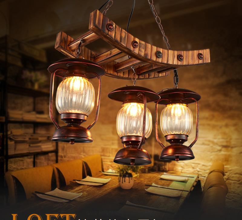 loft复古漫咖啡餐厅网酒吧台工业风美式乡村创意个性竹子装饰吊灯