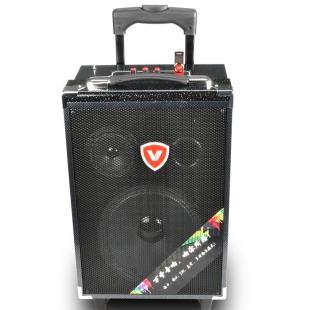万圣k10广场舞音响 充电 户外 移动拉杆式 唱歌音箱 蓝牙插卡u盘