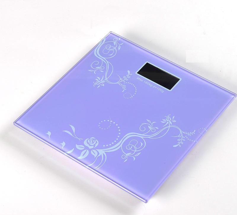 电子体重秤人体秤健康称钢化玻璃秤印logo 订制订做带温度计夜光