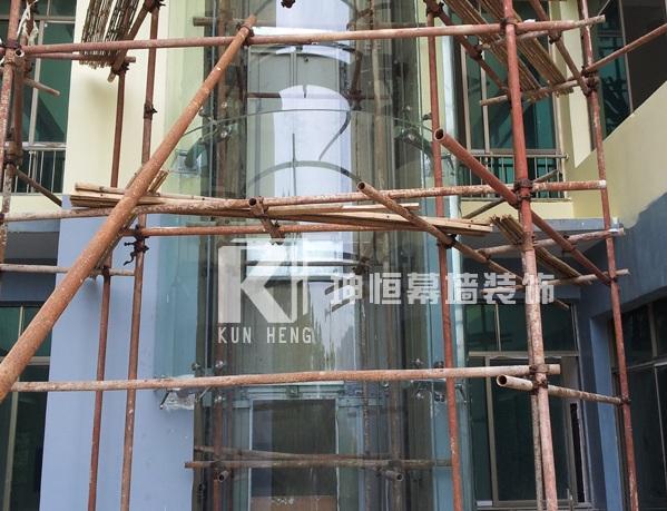 桂林玻璃观光电梯施工,广西畅销玻璃观光梯供应