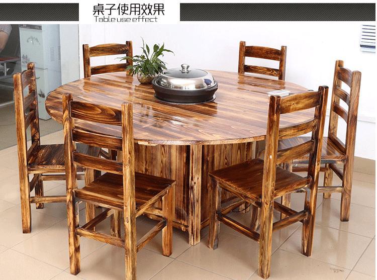 定做大理石蒸汽火锅桌火锅大圆桌子 现代简约天然大理石桌火锅