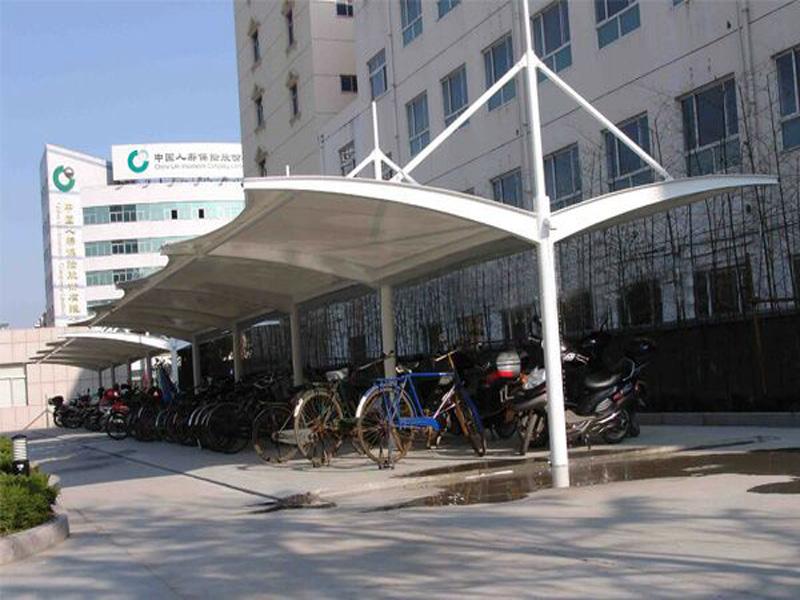 自行车棚——江苏膜结构自行车棚造价