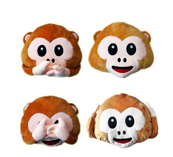 2016新款emoji猴子猴年抱枕靠垫qq表情可爱毛绒玩具厂家直销
