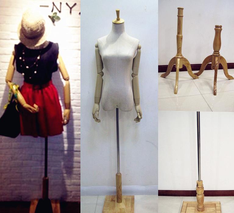 厂家直销批发:女半身服装模特道具 假人台包布 复古人体模特衣架