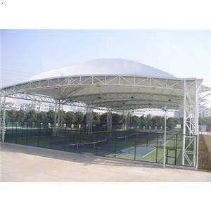 造型柔美的膜结构车棚|膜结构车棚厂家