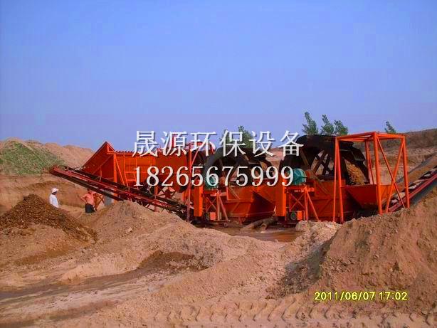 潍坊哪里有卖得好的挖斗洗沙机——旱地挖斗洗砂机