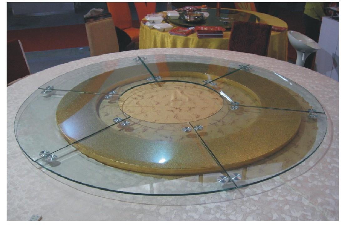 餐桌大转盘 酒店玻璃转盘 高品质超大电动转盘 玻璃转盘