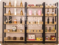 钢木书架简易铁艺货架墙上多层置物架客厅架展示架子落地组合书柜