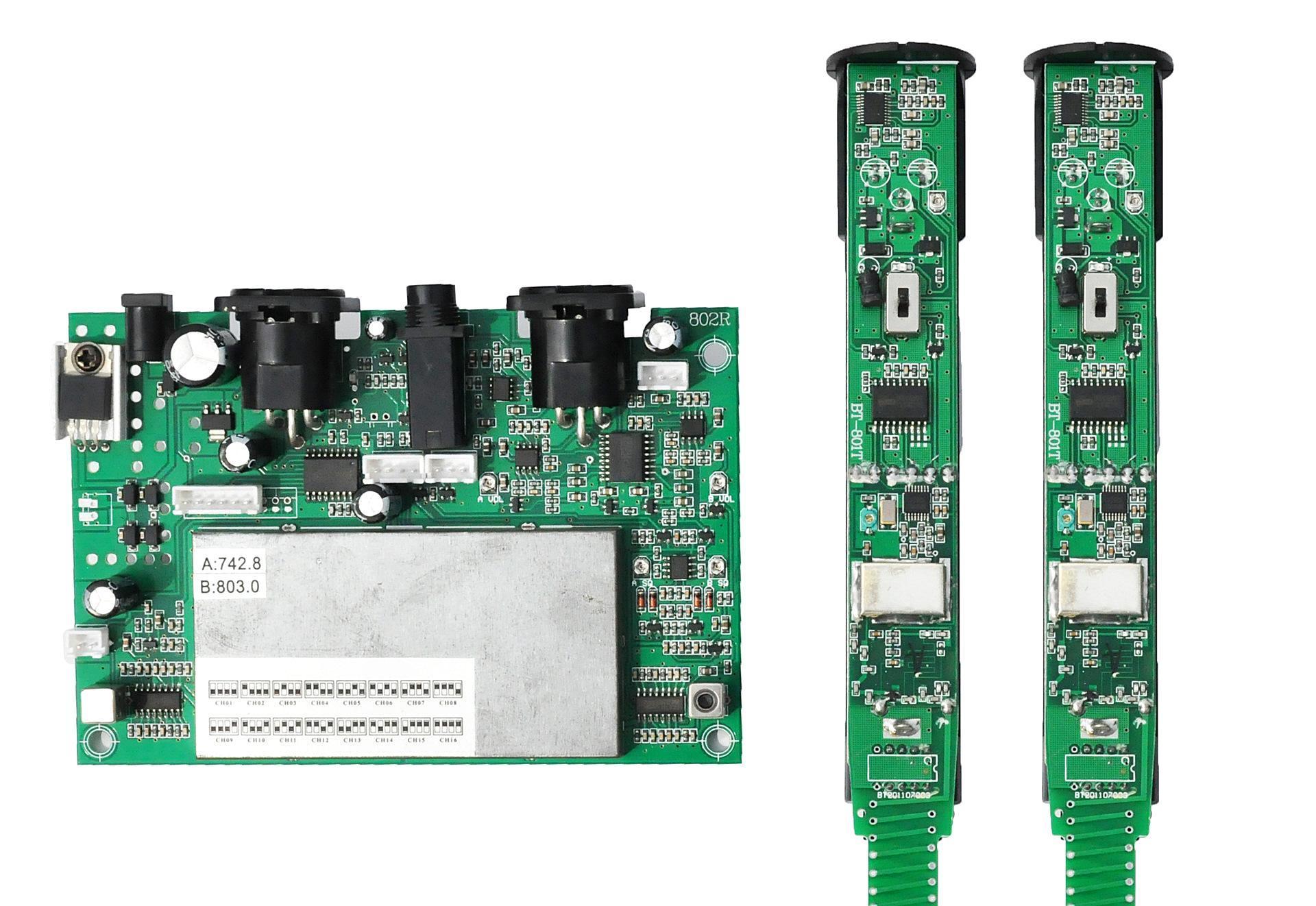 uk-110m uhf1拖1固频无线麦克风模块 无线话筒模块 电路板