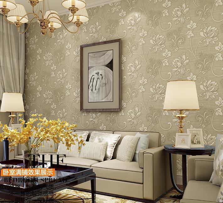 墙纸 卧室 客厅 背景 竖条纹 植绒 无纺布壁纸蓝色简约包邮 68160