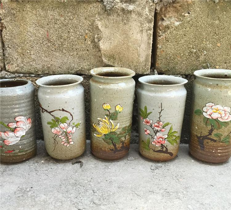 多肉花盆大陶瓷特价中国风手绘粗陶罐景德镇创意复古多肉植物花盆