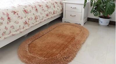 加厚加密3d椭圆形弹力丝地毯 客厅卧室床边地毯飘窗地垫