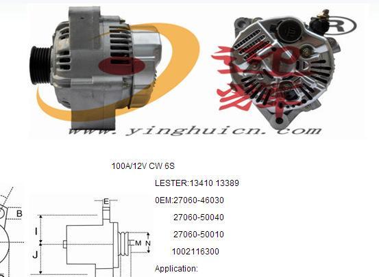 凌志400 汽车发电机 编号27060-46030 质量有保  厂家直供