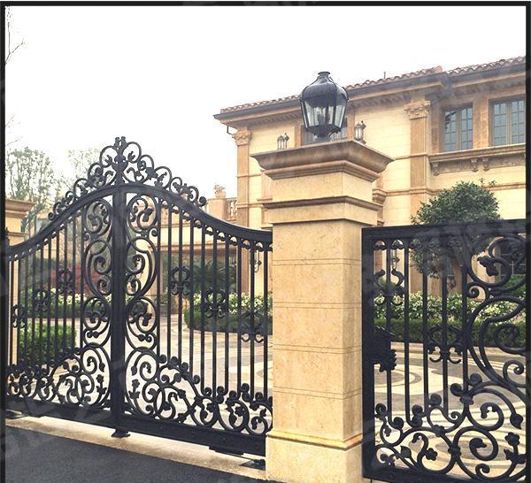弗洛格 铝艺大门 实心铸铝门 花园庭院门 欧式复古