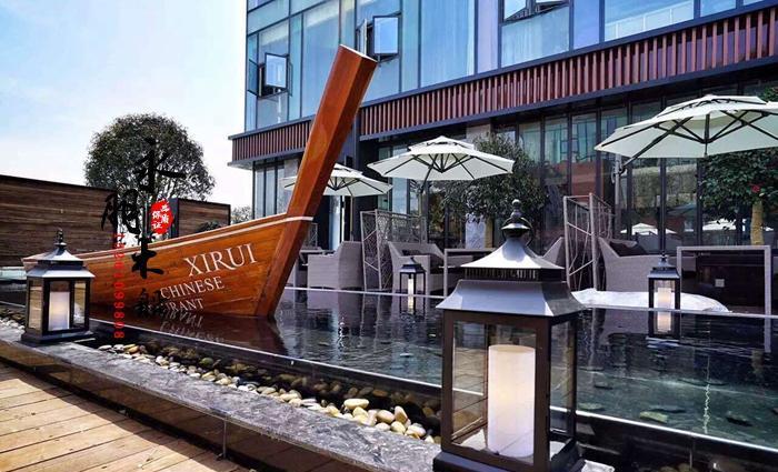 定制精品木船 泰国船 餐厅船 道具船 装饰船 沙滩船 欧式船