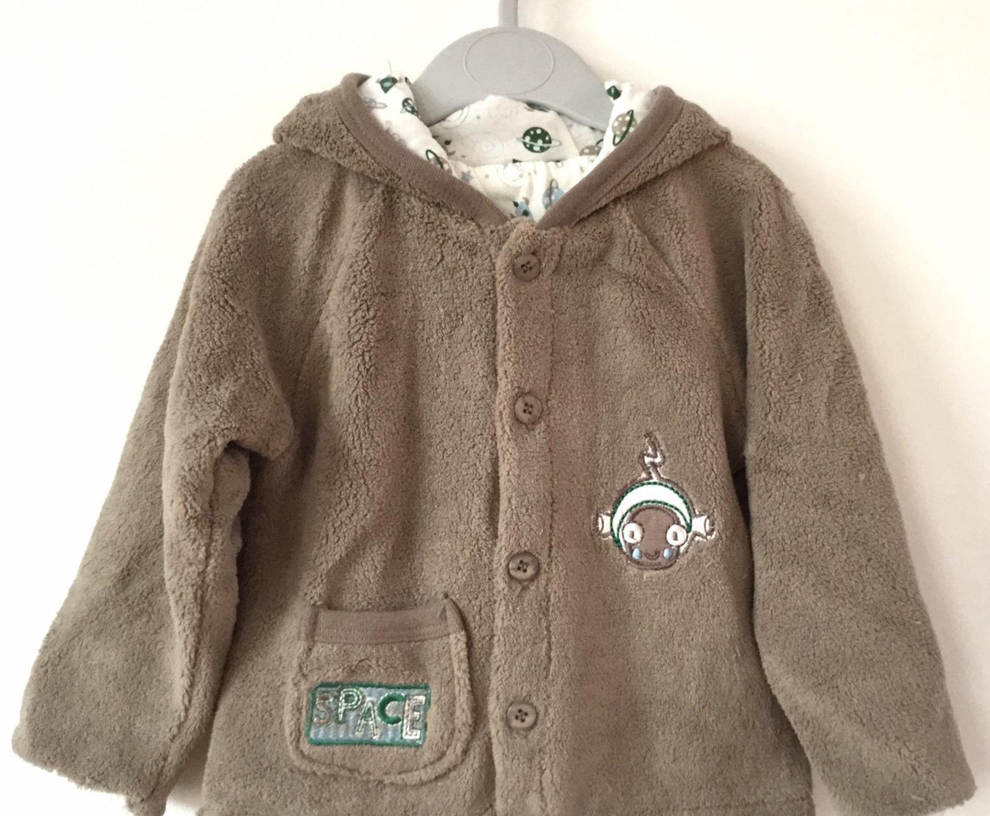 童装新款婴幼儿珊瑚绒带帽保暖加厚外套 开衫 厂家直销 一件待发