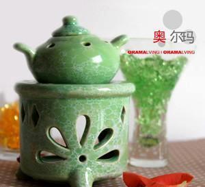 家居饰品日用品 绿色茶壶香薰炉