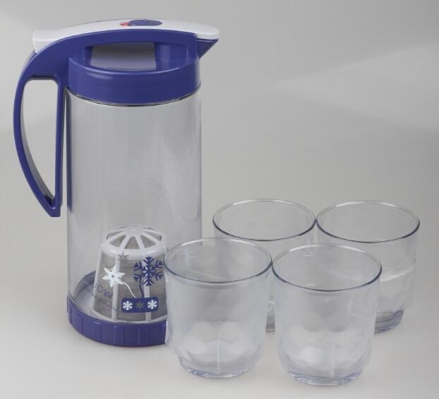 546柔雪过滤套装水壶 冷水壶套装 茶壶塑料套装