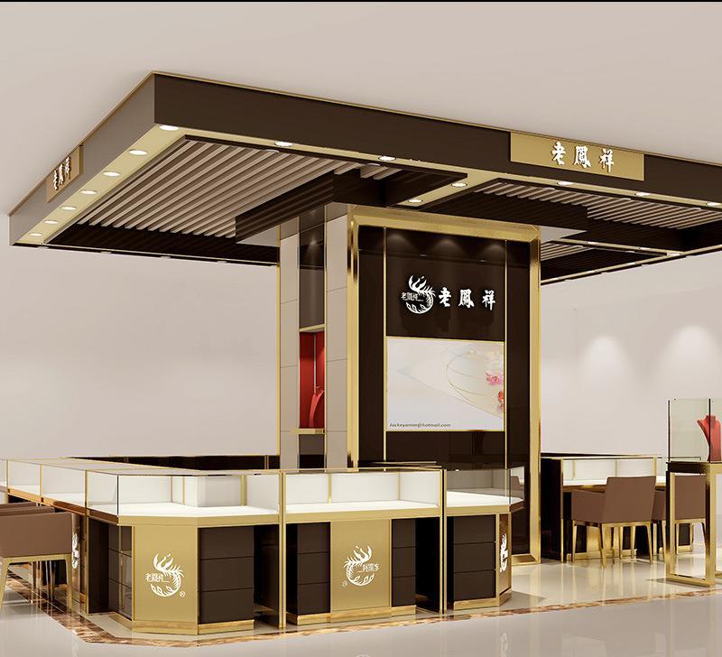 高端珠宝展示柜 欧式时尚珠宝展柜 品牌设计 展柜订制 厂家定制