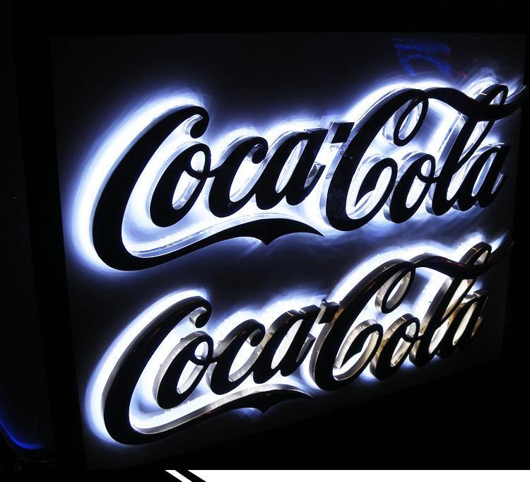 加工定制金属不锈钢发光字 背发光字立体字广告牌制作led发光字