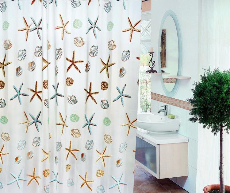 外贸浴帘 欧式黑白大方格卫生间浴室peva帘布 防水防霉 厂家直销
