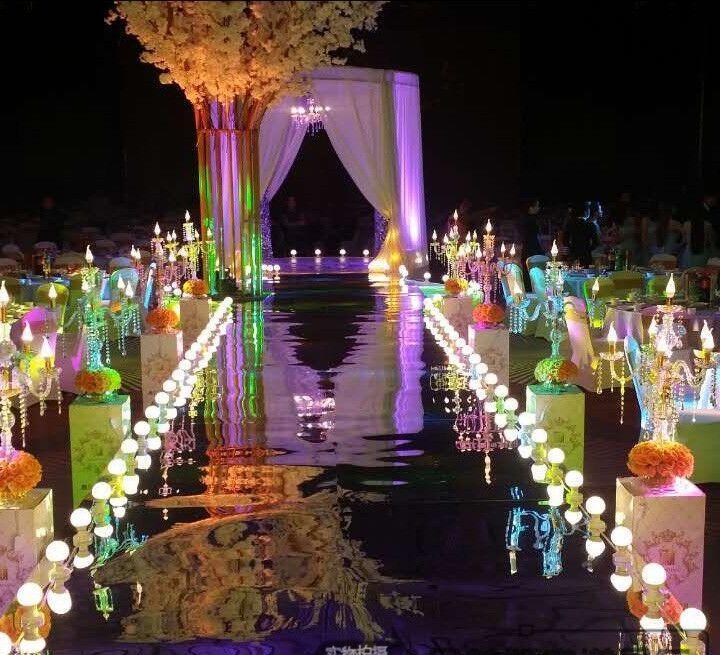 婚庆道具镂空路引雕花 婚庆pvc罗马柱路引 婚礼布置灯光路引花柱