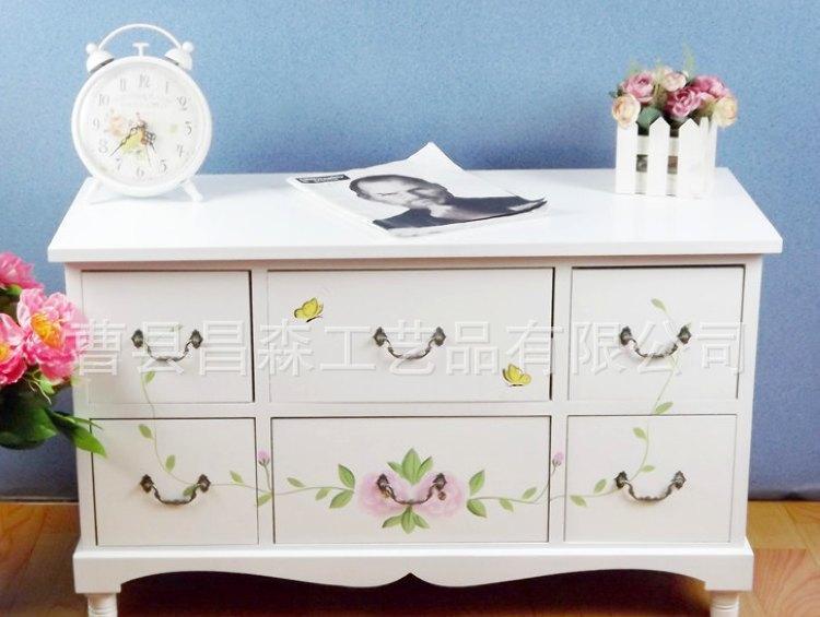 厂家直销白色创意手绘客厅电视背景柜 现代简约茶几地柜 可定制