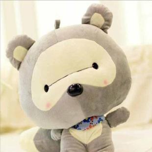 超萌小浣熊公仔大号毛绒玩具熊猫可爱玩偶抱枕地摊娃娃一件代发