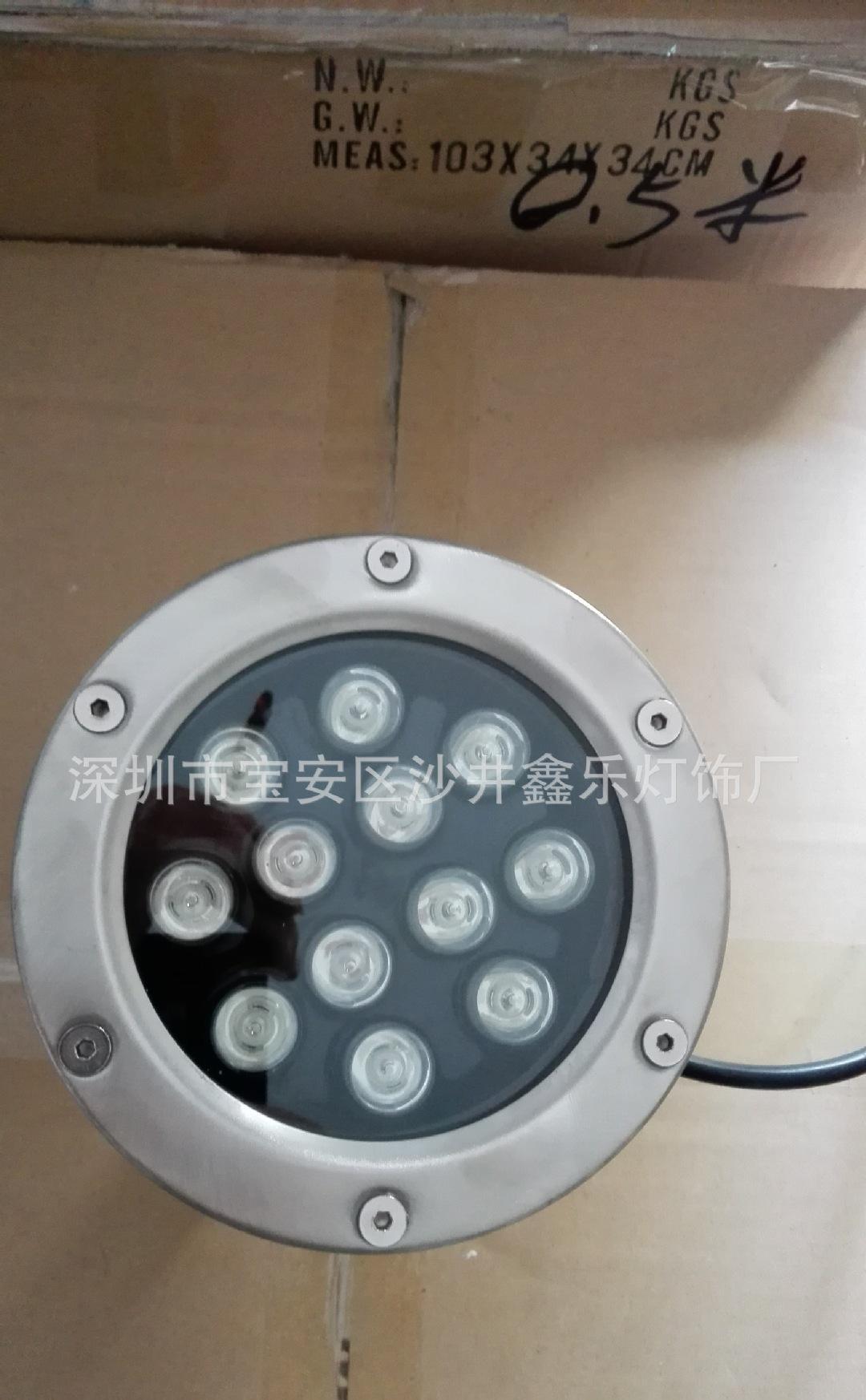 12W水底灯进口芯片12V恒流驱动高防水IP65.进口高亮芯片工程专用