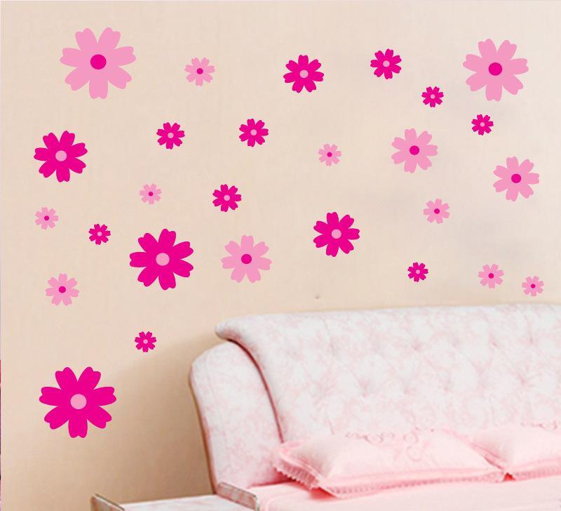 hl特大墙贴墙纸60*90 儿童房幼儿园装饰贴纸 小碎花