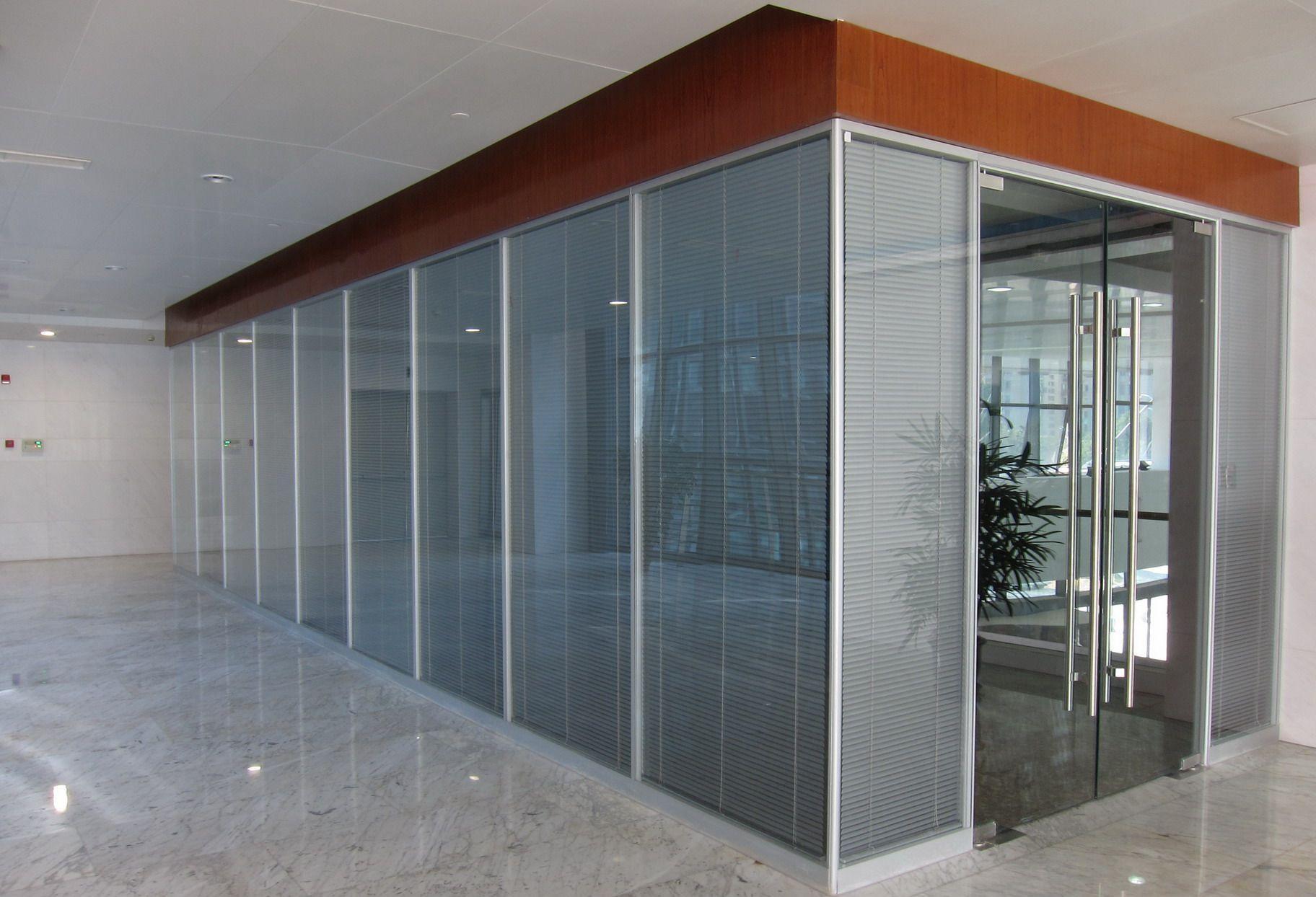 玻璃隔断墙办公室隔墙铝合金隔断钢化玻璃百叶隔断高隔断隔音隔断