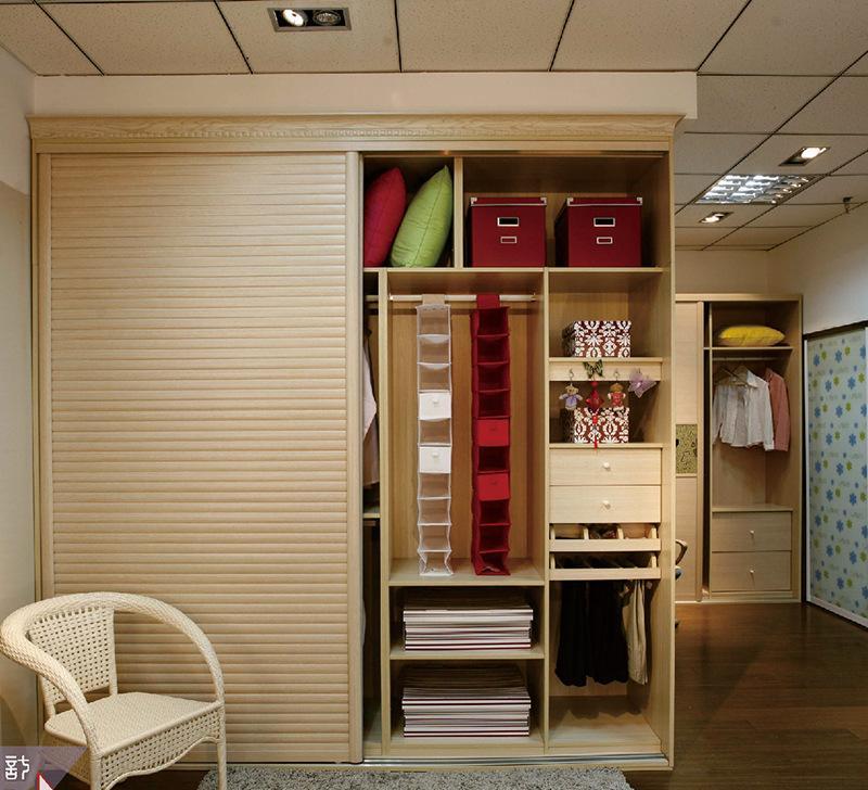 爱尚整体衣柜推拉门卧室转角家具板式定做定制衣柜衣帽间欧式