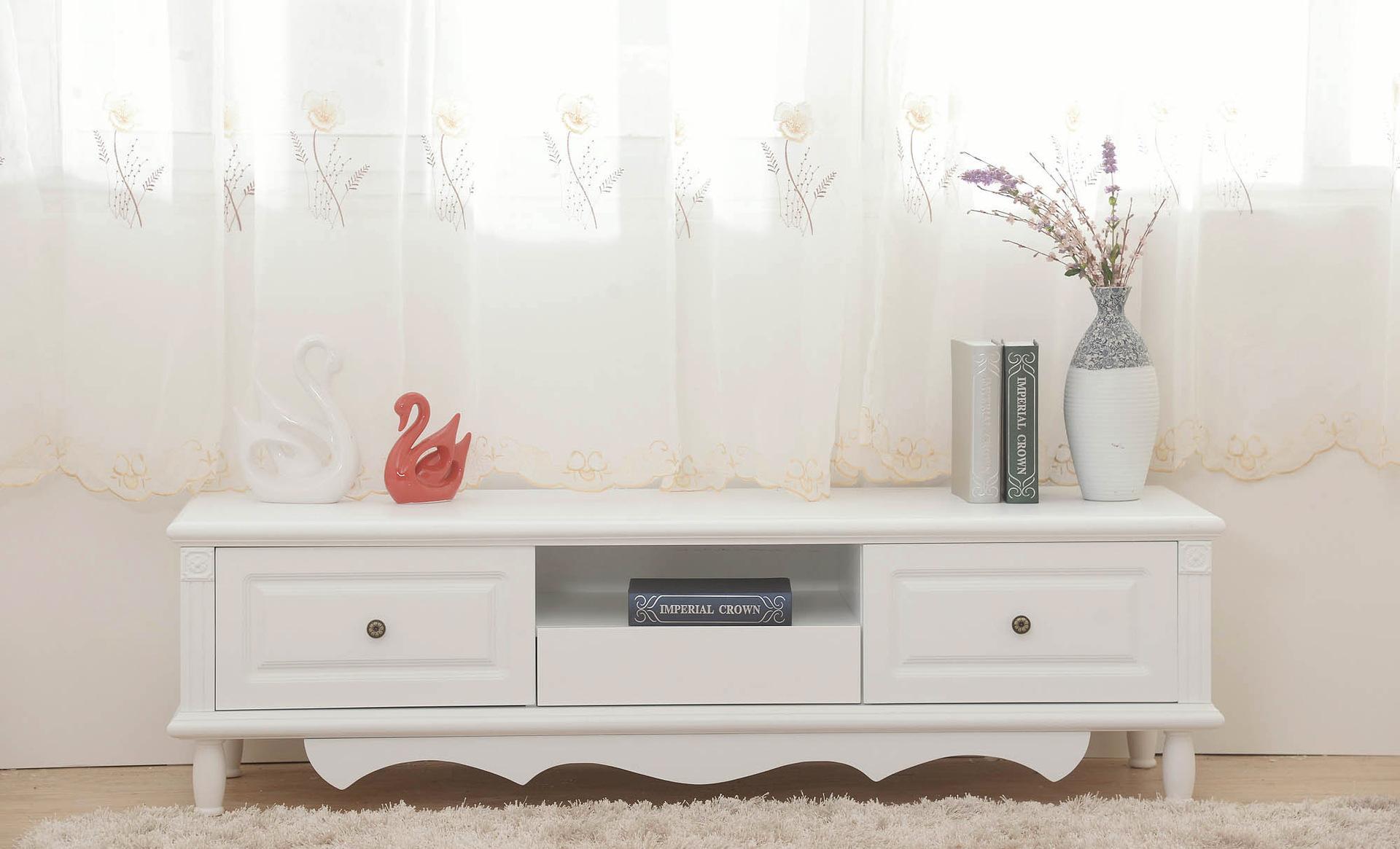 现代简约田园欧式电视柜餐边柜组合套装客厅地柜钢琴烤漆