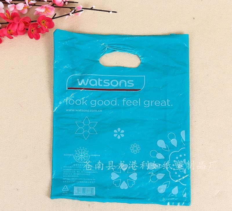 厂家直销四指包装袋 环保手提透明服装塑料袋 购物饰?#21453;?#29305;价批发